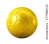 3d gold classic soccer ball on... | Shutterstock . vector #177988115