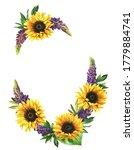 Watecolor Floral Frame Witn...