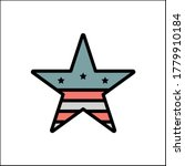 star favorite usa flag icon....