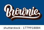 Chocolate Fudge Brownie Vector...