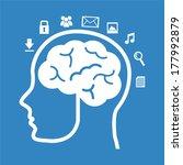 think design over blue... | Shutterstock .eps vector #177992879
