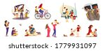 set of scenes with family.... | Shutterstock .eps vector #1779931097