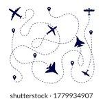 plane paths. aircraft way ...   Shutterstock .eps vector #1779934907