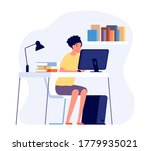 studying process. student... | Shutterstock .eps vector #1779935021