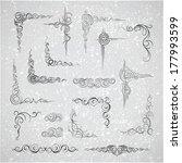 decorative elements. frames.... | Shutterstock .eps vector #177993599