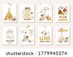 nursery boho posters for baby... | Shutterstock .eps vector #1779945374