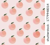 peach with leaf pattern on... | Shutterstock . vector #1779948014
