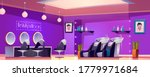 beauty saloon interior  empty...   Shutterstock .eps vector #1779971684