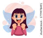 happy little fairy. cute girl...   Shutterstock .eps vector #1779978491