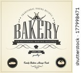 vintage bakery labels  badges... | Shutterstock .eps vector #177998471