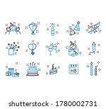 birthday cake icon outlined... | Shutterstock .eps vector #1780002731