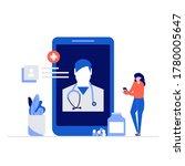 doctor online vector... | Shutterstock .eps vector #1780005647