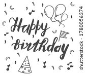 happy birthday lettering... | Shutterstock .eps vector #1780056374
