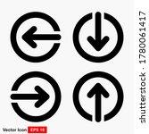 arrow vector icons designed in...