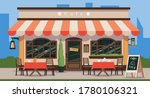 street cafe. cafe shop in old... | Shutterstock .eps vector #1780106321