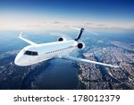 private jet plane in the blue... | Shutterstock . vector #178012379