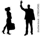 vector silhouettes man and... | Shutterstock .eps vector #178014581