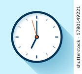 clock icon in flat style  timer ...   Shutterstock .eps vector #1780149221