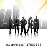 business people in city | Shutterstock .eps vector #17801533