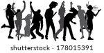 vector silhouette dancing and... | Shutterstock .eps vector #178015391