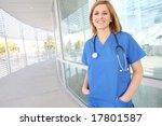 A Pretty Young Female Nurse...