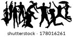 vector silhouette of people who ... | Shutterstock .eps vector #178016261