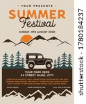 summer festival camp flyer a4... | Shutterstock .eps vector #1780184237