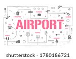 airport word concepts banner....