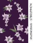 Small photo of Abstract elegance seamless pattern with floral purpure background