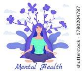 mental health yoga meditation... | Shutterstock .eps vector #1780204787