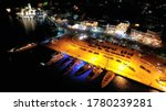 Aerial Drone Night Shot Of...