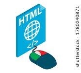 html file icon. isometric...   Shutterstock .eps vector #1780240871