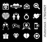 valentine's day icon   white | Shutterstock .eps vector #178024829