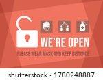 we are open after coronavirus... | Shutterstock .eps vector #1780248887