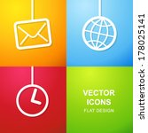 set of 3 simple icons for web...