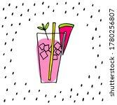 watermelon drink card. melon...   Shutterstock .eps vector #1780256807