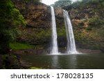 Wailua Falls Kauai With People...