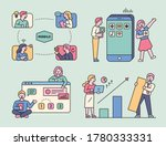 people viewing business work on ... | Shutterstock .eps vector #1780333331