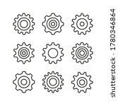 cogs line icons set. gears ... | Shutterstock .eps vector #1780346864