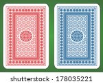 playing card back designs. | Shutterstock .eps vector #178035221