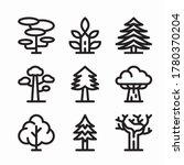 simple set trees vector line...   Shutterstock .eps vector #1780370204