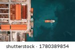 Aerial View Of Vessels Docking...