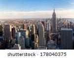 Stock photo new york city skyline nyc ny usa 178040375