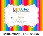 certificates kindergarten and... | Shutterstock . vector #1780403807