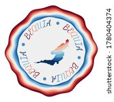 Bequia Badge. Map Of The Islan...