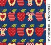 apples.   whole apple  apple... | Shutterstock .eps vector #1780404587