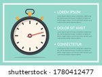 stopwatch and three elements...   Shutterstock .eps vector #1780412477