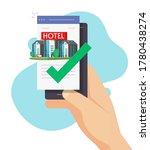 hotel online booking via mobile ... | Shutterstock .eps vector #1780438274