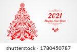 happy new year 2021.... | Shutterstock . vector #1780450787