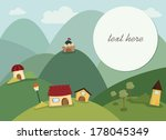 happy village background with... | Shutterstock .eps vector #178045349
